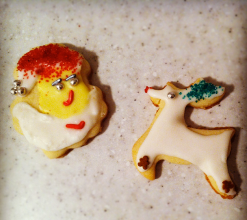 Sugar Cookie Santa and reindeer
