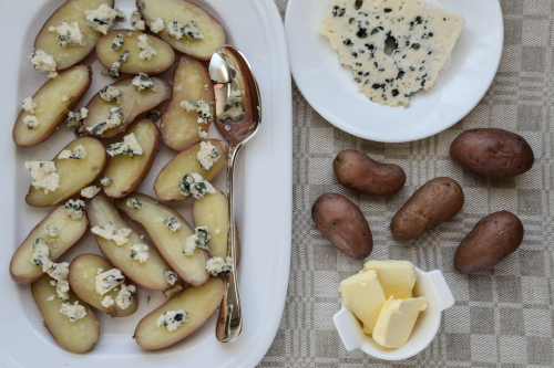 Roquefort and Fingerling Potatoes