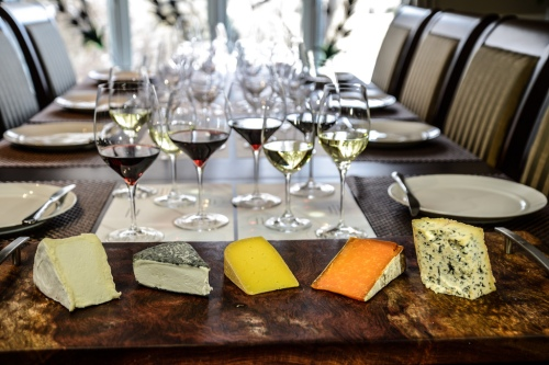 Cheese and Wine table  landscape