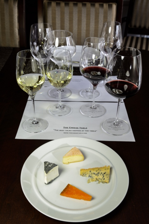 Wines and cheeses for Cheese Talks