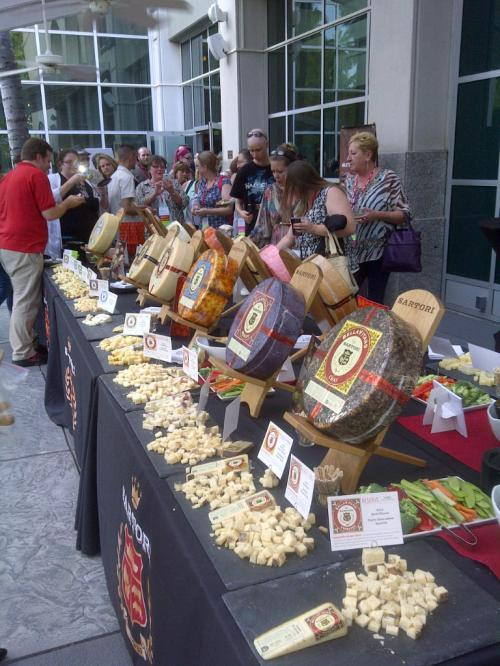 The cheese spread at the New Member Reception, sponsored by Sartori